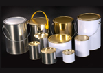Round Tinplate Cans for Paints and Chemicals